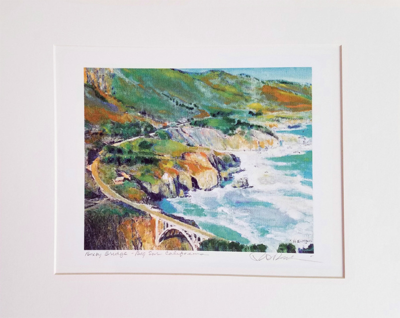 hand signed painting prints matted and frame ready  san diego beach cottages for sale