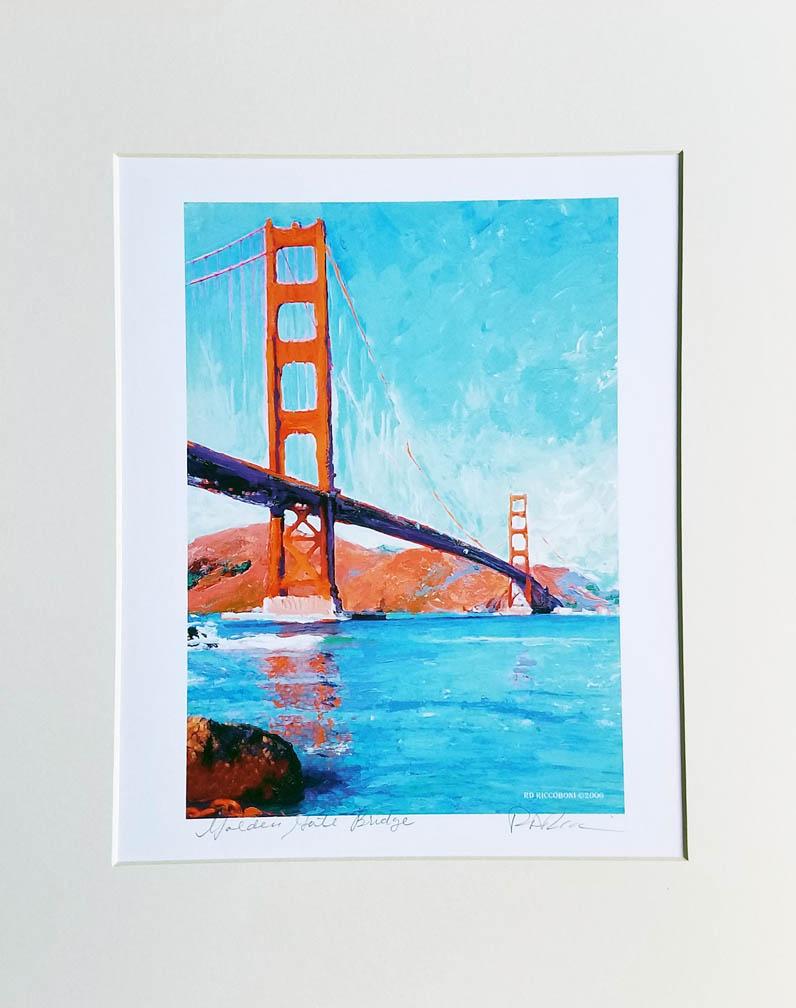 Golden Gate Bridge San Francisco picture, frame ready painting print ...