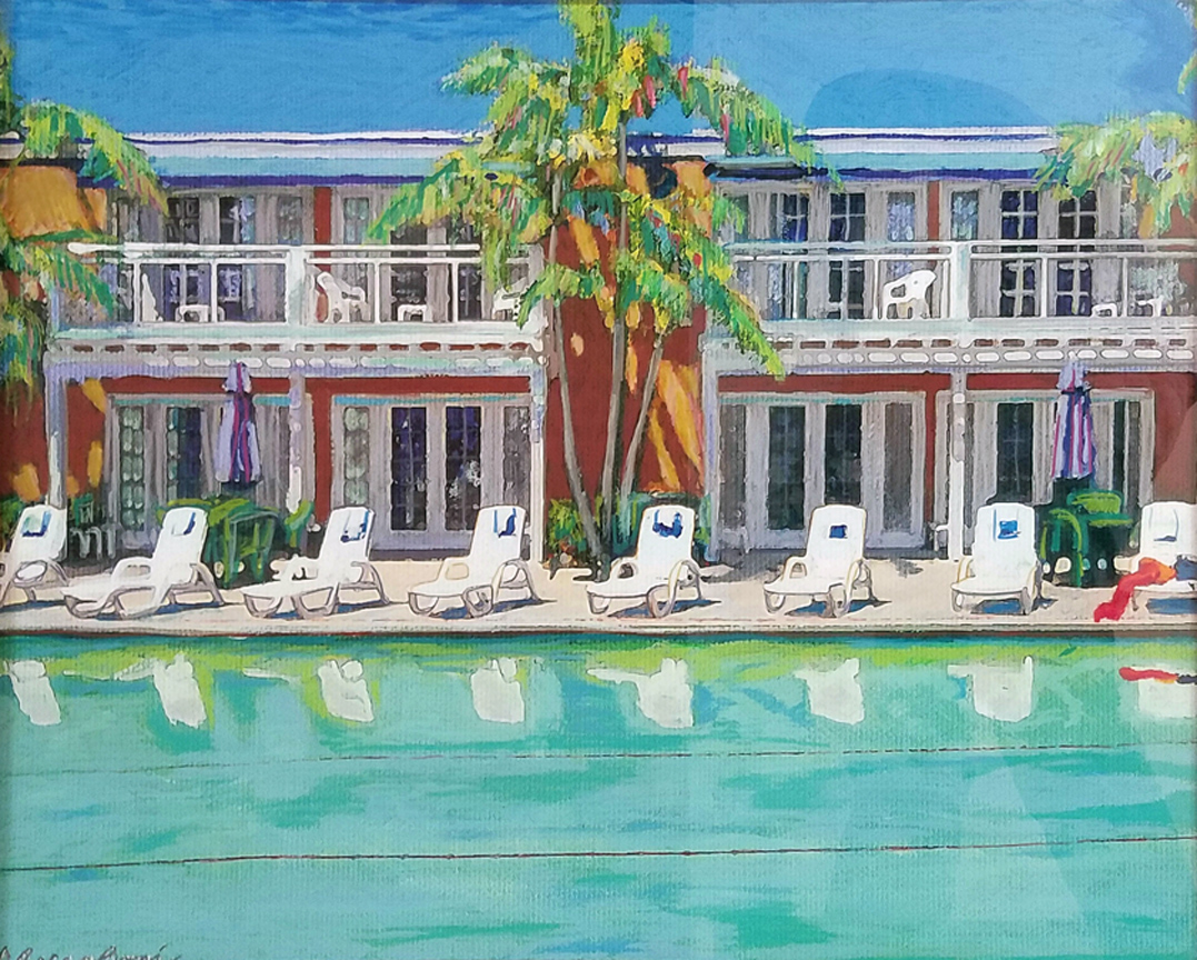 Picture of: Poolside At The Lafayette Mid Century Modern Art By Rd Riccoboni